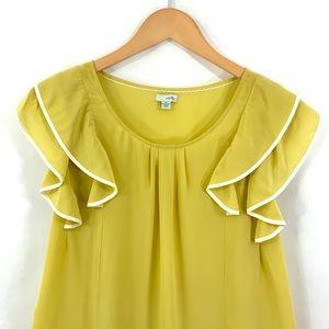Anthropologie Tops - Anthropologie ODILLE Flutter Sleeve Silk Top A3
